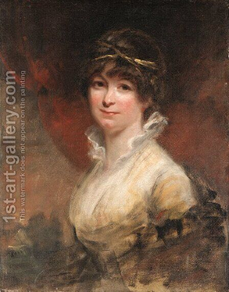 Portrait of a lady by (after) Sir William Beechey - Reproduction Oil Painting