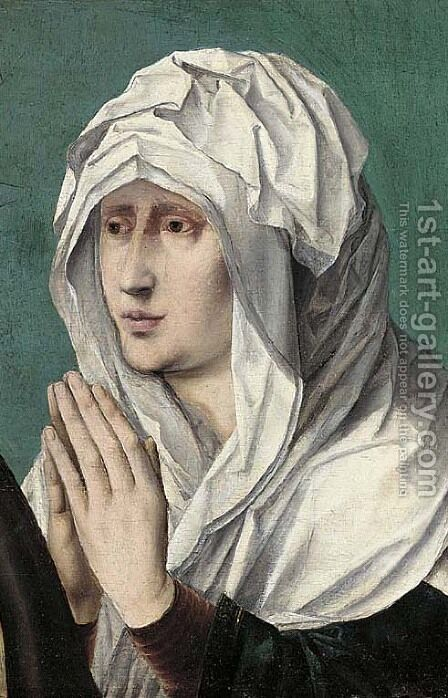 The Mater Dolorosa a fragment by (after) The Master Of The Saint Sang - Reproduction Oil Painting