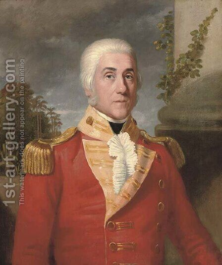 Portrait of Major General George Wahab (1752-1808) by (after) Thomas Hickey - Reproduction Oil Painting