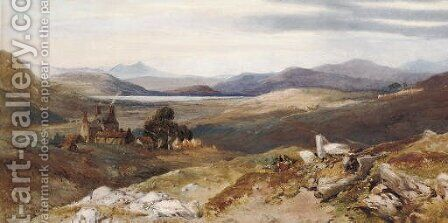 Balintore, Forfarshire by (after) Thomas Miles Jnr Richardson - Reproduction Oil Painting