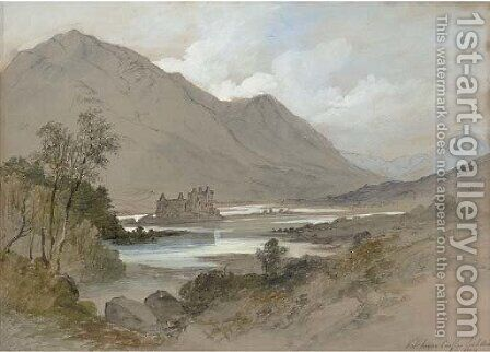 Kilchurn Castle, Loch Awe by (after) Thomas Miles Jnr Richardson - Reproduction Oil Painting