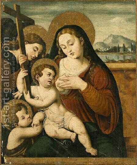 The Virgin and Child by (after) Vicente Juan (Juan De Juanes) Macip - Reproduction Oil Painting