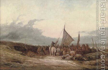 Near Port Isaac, Cornish coast by (after) William Edward Webb - Reproduction Oil Painting