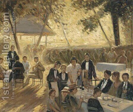 'Lunch at Goodwood' by (after) William Jesmond Dewar - Reproduction Oil Painting