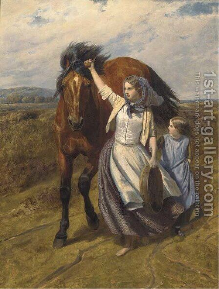 The farmer's daughters by (after) William Mulready - Reproduction Oil Painting