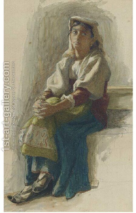 Il Penseroso by (after) Kate Greenaway - Reproduction Oil Painting