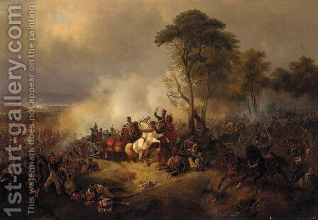 A Battlescene by August Franz Schelver - Reproduction Oil Painting