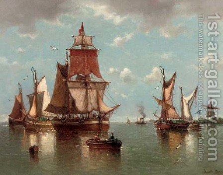 D'Ete a Hollands Diep by Auguste Musin - Reproduction Oil Painting