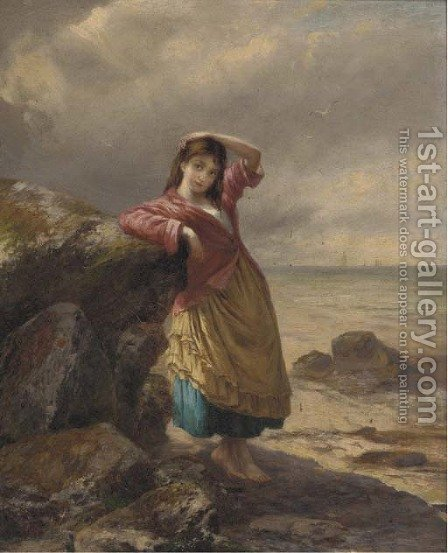 The fisherman's daughter by Augustus Edward Mulready - Reproduction Oil Painting