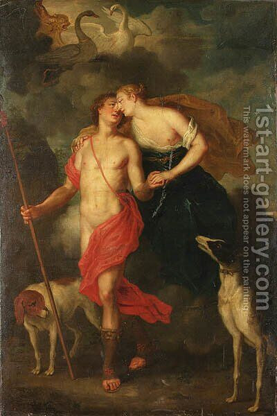 Venus and Adonis by Balthasar Beschey - Reproduction Oil Painting