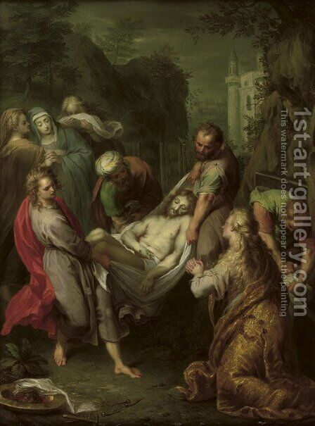 The Entombment by Balthazar Beschey - Reproduction Oil Painting