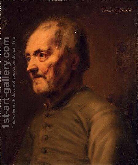 Head study of an old man by Balthasar Denner - Reproduction Oil Painting