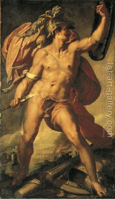 Mars by Bartholomaeus Spranger - Reproduction Oil Painting