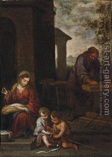 The Holy Family with the Infant Saint John the Baptist by Bartolome Esteban Murillo - Reproduction Oil Painting