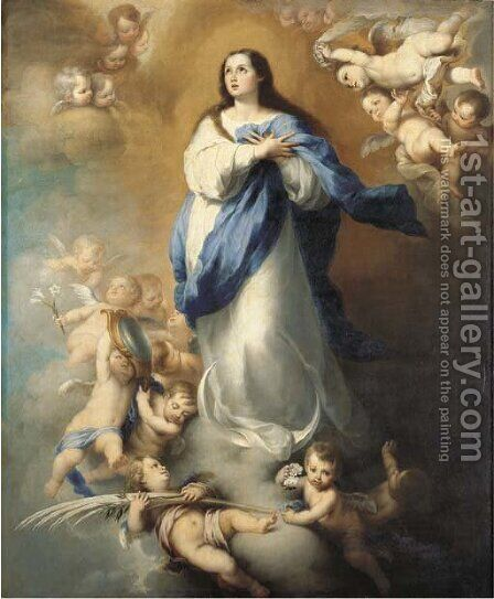 The Immaculate Conception by Bartolome Esteban Murillo - Reproduction Oil Painting