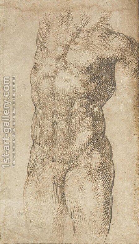 A nude male torso by Bartolomeo Passarotti - Reproduction Oil Painting