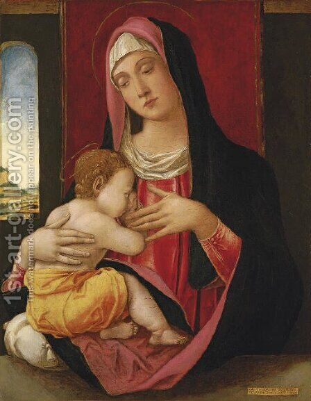 The Madonna and Child by Bartolomeo Vivarini - Reproduction Oil Painting