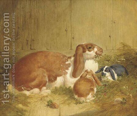 A Happy Family by Benjamin Herring, Jnr. - Reproduction Oil Painting