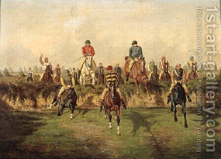The Steeplechase 2 by Benjamin Herring, Jnr. - Reproduction Oil Painting