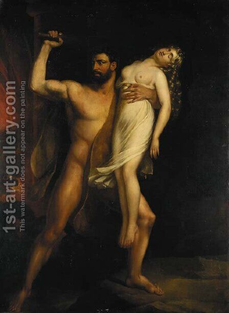 Heracles and Persephone by Benjamin Robert Haydon - Reproduction Oil Painting