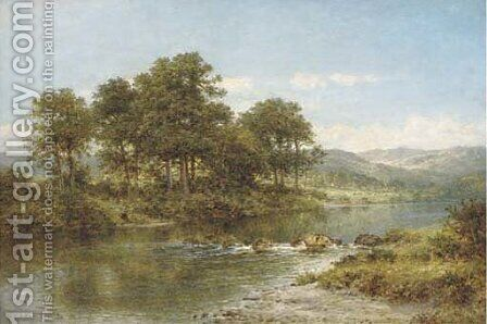A stream from the hills by Benjamin Williams Leader - Reproduction Oil Painting
