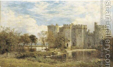 Bodiam Castle, Sussex by Benjamin Williams Leader - Reproduction Oil Painting