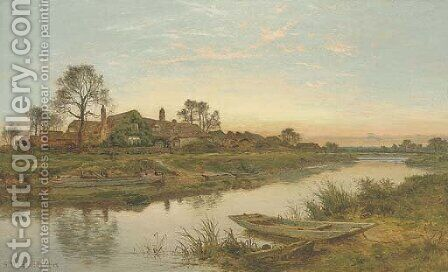 Evening on the Severn by Benjamin Williams Leader - Reproduction Oil Painting
