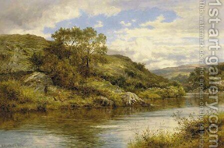On the Lledr by Benjamin Williams Leader - Reproduction Oil Painting