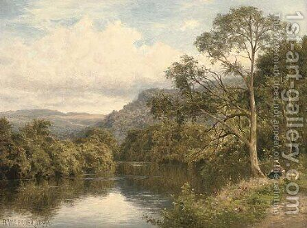 On the river Conway near Bettws-y-Coed by Benjamin Williams Leader - Reproduction Oil Painting
