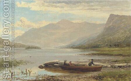 Ullswater by Benjamin Williams Leader - Reproduction Oil Painting
