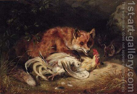 The Kill by Benno Adam - Reproduction Oil Painting