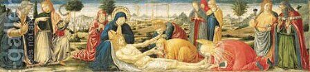 The Lamentation over the Dead Christ by Benozzo di Lese di Sandro Gozzoli - Reproduction Oil Painting
