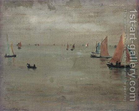 Boats coming home, Les Croisie by Bernard Sickert - Reproduction Oil Painting