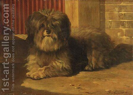 A Tibetan terrier by Bernard te Gempt - Reproduction Oil Painting