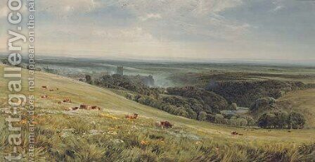 Richmond, Yorkshire by Bernard Walter Evans - Reproduction Oil Painting