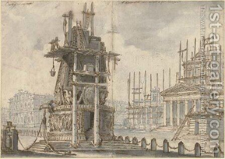 A set design for an opera called by Bernardino Galliari - Reproduction Oil Painting