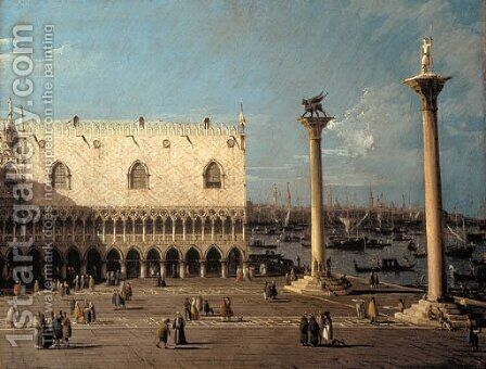 Untitled by Bernardo Bellotto (Canaletto) - Reproduction Oil Painting