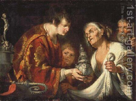 The Charity of Saint Laurence by Bernardo Strozzi - Reproduction Oil Painting