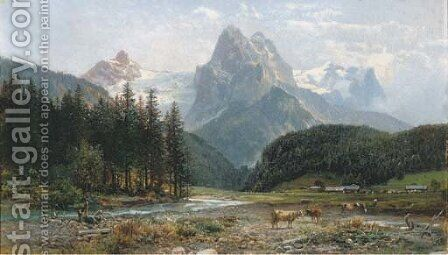 The Rosenlauigletscher, Switzerland by Bernhard Muthlig - Reproduction Oil Painting
