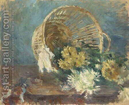 Chrysanthemes or Corbeille renversee by Berthe Morisot - Reproduction Oil Painting
