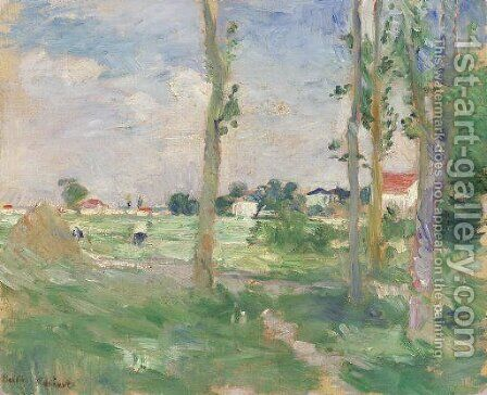 Paysage by Berthe Morisot - Reproduction Oil Painting