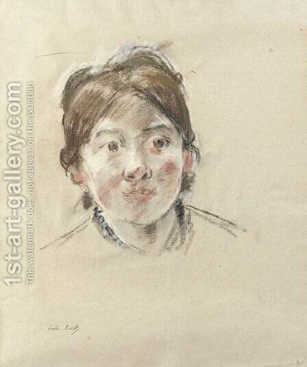 Portrait de Mlle Labillois by Berthe Morisot - Reproduction Oil Painting