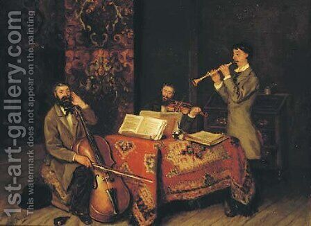 Valsch geblasen the amateur musicians by Betsy Repelius - Reproduction Oil Painting