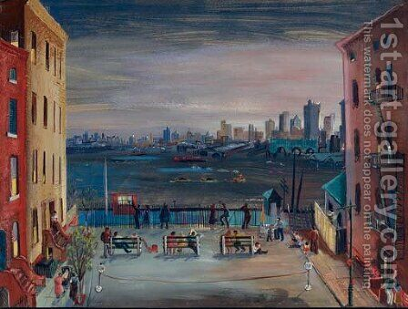 Brooklyn Heights by Boris Dmitrievich Grigoriev - Reproduction Oil Painting