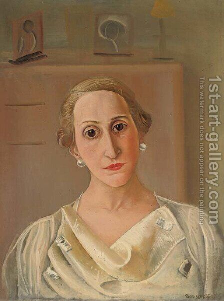 Portrait of Juanita Edwards de Gandarillas by Boris Dmitrievich Grigoriev - Reproduction Oil Painting