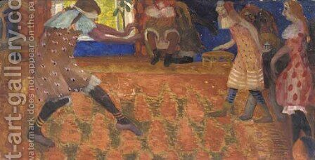 The Game of Blindman's Bluff by Boris Dmitrievich Grigoriev - Reproduction Oil Painting