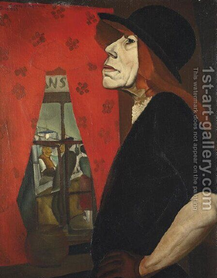 The Harlot of Marseilles by Boris Dmitrievich Grigoriev - Reproduction Oil Painting