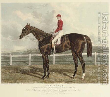 The Baron, winner of the great St. Leger stakes at Doncaster 1845 by Charles Hunt - Reproduction Oil Painting