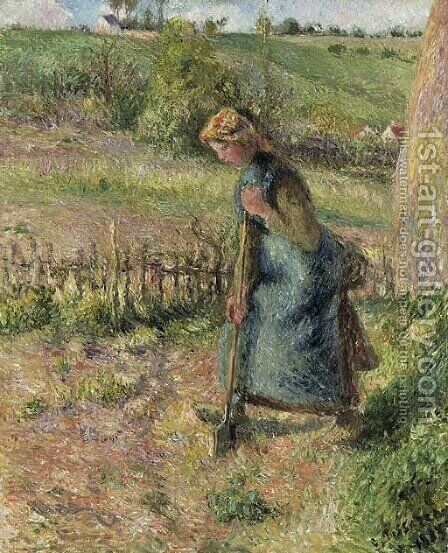 Femme bachant by Camille Pissarro - Reproduction Oil Painting