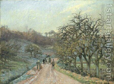 L'allee de pommiers pres d'Osny, Pontoise by Camille Pissarro - Reproduction Oil Painting